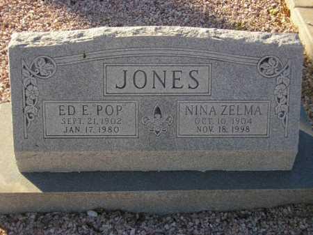 JONES, ED E. 'POP' - Maricopa County, Arizona | ED E. 'POP' JONES - Arizona Gravestone Photos