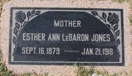 JONES, ESTHER ANN - Maricopa County, Arizona | ESTHER ANN JONES - Arizona Gravestone Photos