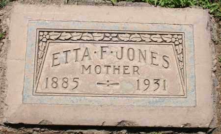JONES, ETTA F - Maricopa County, Arizona | ETTA F JONES - Arizona Gravestone Photos