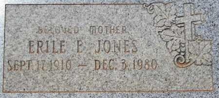JONES, ERILE E. - Maricopa County, Arizona | ERILE E. JONES - Arizona Gravestone Photos