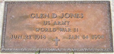 JONES, GLEN D. - Maricopa County, Arizona | GLEN D. JONES - Arizona Gravestone Photos