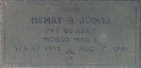 JONES, HENRY R. - Maricopa County, Arizona | HENRY R. JONES - Arizona Gravestone Photos