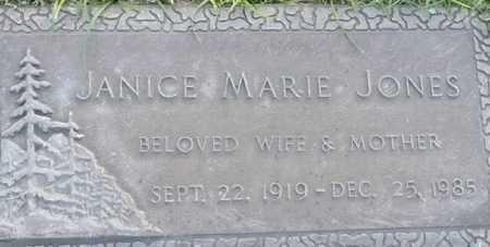 JONES, JANICE MARIE - Maricopa County, Arizona   JANICE MARIE JONES - Arizona Gravestone Photos