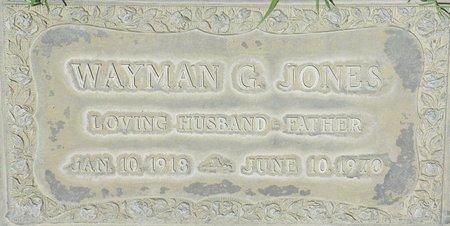 JONES, WAYMAN G - Maricopa County, Arizona | WAYMAN G JONES - Arizona Gravestone Photos