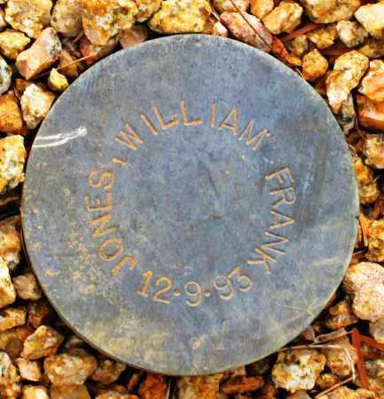 JONES, WILLIAM FRANK - Maricopa County, Arizona | WILLIAM FRANK JONES - Arizona Gravestone Photos