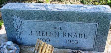 KNABE, J. HELEN - Maricopa County, Arizona   J. HELEN KNABE - Arizona Gravestone Photos