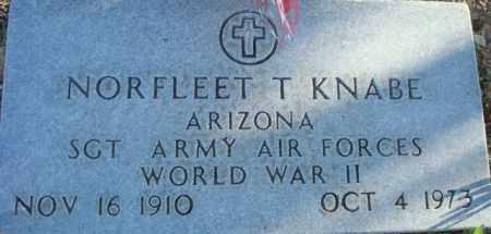 KNABE, NORFLEET T. - Maricopa County, Arizona   NORFLEET T. KNABE - Arizona Gravestone Photos