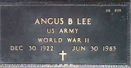LEE, ANGUS B. - Maricopa County, Arizona   ANGUS B. LEE - Arizona Gravestone Photos