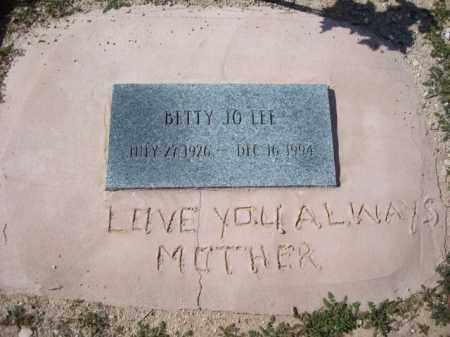 LEE, BETTY JO - Maricopa County, Arizona | BETTY JO LEE - Arizona Gravestone Photos