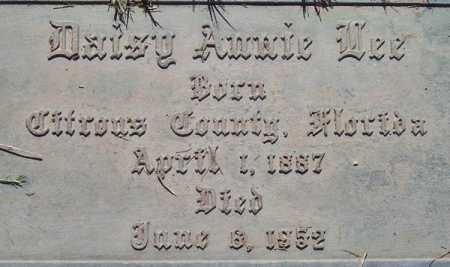 LEE, DAISY ANNIE - Maricopa County, Arizona | DAISY ANNIE LEE - Arizona Gravestone Photos