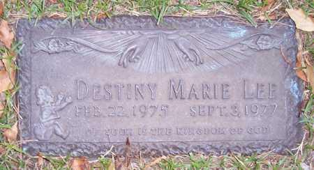 LEE, DESTINY MARIE - Maricopa County, Arizona   DESTINY MARIE LEE - Arizona Gravestone Photos