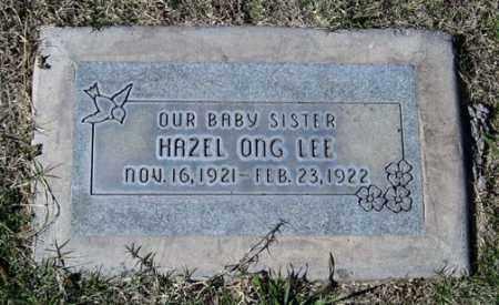LEE, HAZEL ONG - Maricopa County, Arizona   HAZEL ONG LEE - Arizona Gravestone Photos