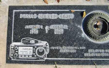 LEHTO, DONALD RICHARD - Maricopa County, Arizona | DONALD RICHARD LEHTO - Arizona Gravestone Photos