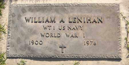 LENIHAN, WILLIAM A. - Maricopa County, Arizona | WILLIAM A. LENIHAN - Arizona Gravestone Photos