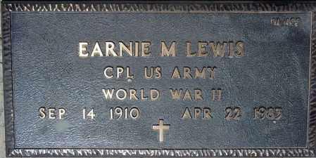 LEWIS, EARNIE M. - Maricopa County, Arizona | EARNIE M. LEWIS - Arizona Gravestone Photos
