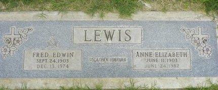 LEWIS, FRED EDWIN - Maricopa County, Arizona | FRED EDWIN LEWIS - Arizona Gravestone Photos
