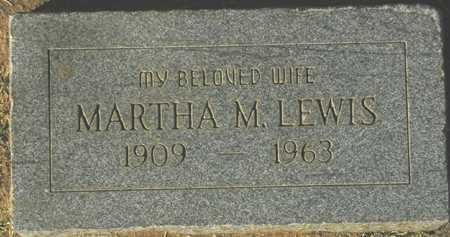 LEWIS, MARTHA M. - Maricopa County, Arizona | MARTHA M. LEWIS - Arizona Gravestone Photos