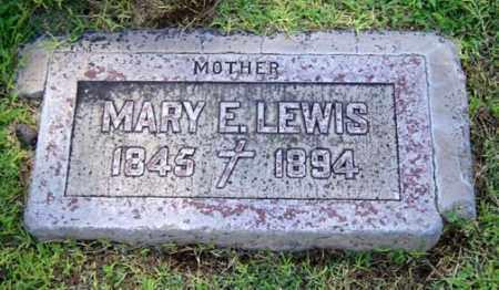 LEWIS, MARY E. - Maricopa County, Arizona | MARY E. LEWIS - Arizona Gravestone Photos