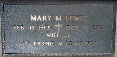 LEWIS, MARY M. - Maricopa County, Arizona | MARY M. LEWIS - Arizona Gravestone Photos