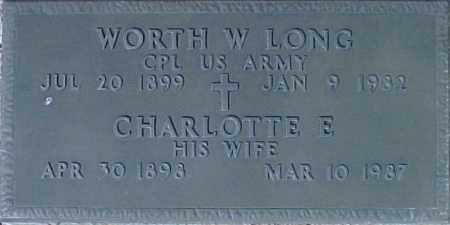 LONG, CHARLOTTE E - Maricopa County, Arizona | CHARLOTTE E LONG - Arizona Gravestone Photos