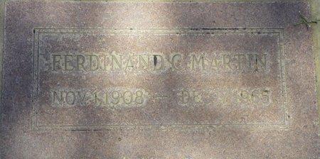 MARTIN, FERDINAND C - Maricopa County, Arizona | FERDINAND C MARTIN - Arizona Gravestone Photos