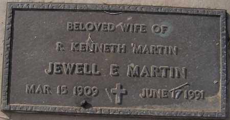 MARTIN, JEWELL E. - Maricopa County, Arizona | JEWELL E. MARTIN - Arizona Gravestone Photos