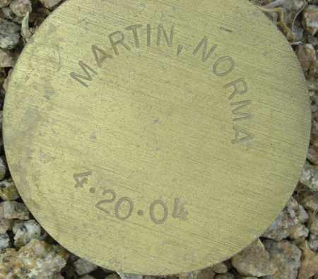 MARTIN, NORMA - Maricopa County, Arizona   NORMA MARTIN - Arizona Gravestone Photos