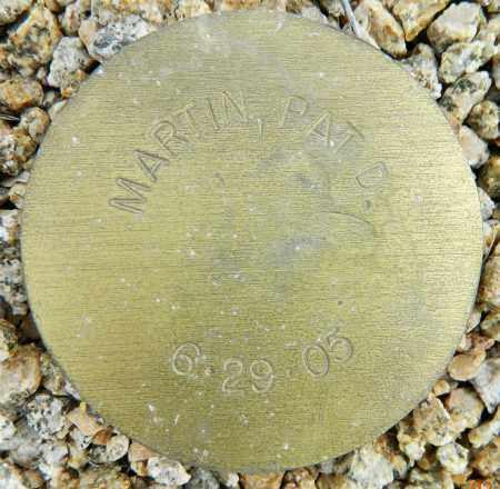 MARTIN, PAT D. - Maricopa County, Arizona | PAT D. MARTIN - Arizona Gravestone Photos