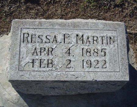 MARTIN, RESSA E. - Maricopa County, Arizona   RESSA E. MARTIN - Arizona Gravestone Photos
