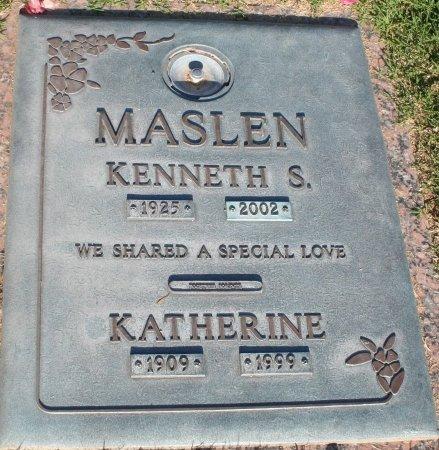 MASLEN, KATHERINE - Maricopa County, Arizona | KATHERINE MASLEN - Arizona Gravestone Photos