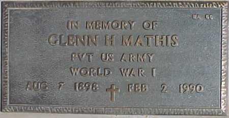 MATHIS, GLENN H - Maricopa County, Arizona | GLENN H MATHIS - Arizona Gravestone Photos