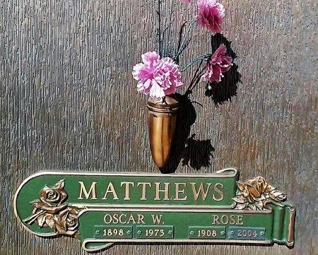 MATTHEWS, OSCAR W. - Maricopa County, Arizona | OSCAR W. MATTHEWS - Arizona Gravestone Photos