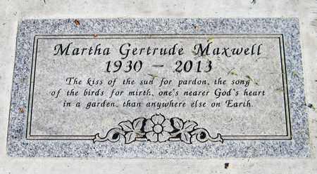 MAXWELL, MARTHA GERTRUDE - Maricopa County, Arizona | MARTHA GERTRUDE MAXWELL - Arizona Gravestone Photos