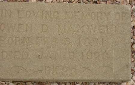 MAXWELL, OWEN D. - Maricopa County, Arizona   OWEN D. MAXWELL - Arizona Gravestone Photos
