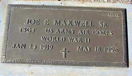 MAXWELL, JOE E., SR. - Maricopa County, Arizona   JOE E., SR. MAXWELL - Arizona Gravestone Photos