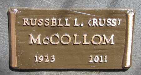 MCCOLLOM, RUSSELL L. (RUSS) - Maricopa County, Arizona   RUSSELL L. (RUSS) MCCOLLOM - Arizona Gravestone Photos