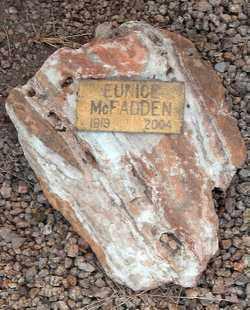 MCFADDEN, EUNICE EMOGENE - Maricopa County, Arizona | EUNICE EMOGENE MCFADDEN - Arizona Gravestone Photos