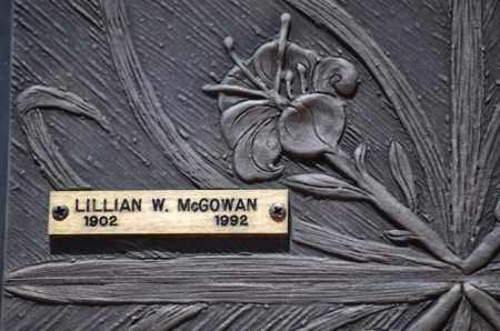 MCGOWAN, LILLIAN W. - Maricopa County, Arizona | LILLIAN W. MCGOWAN - Arizona Gravestone Photos