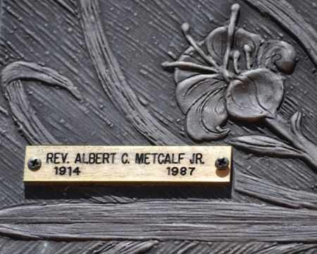 METCALF, (REV) ALBERT C, JR - Maricopa County, Arizona | (REV) ALBERT C, JR METCALF - Arizona Gravestone Photos
