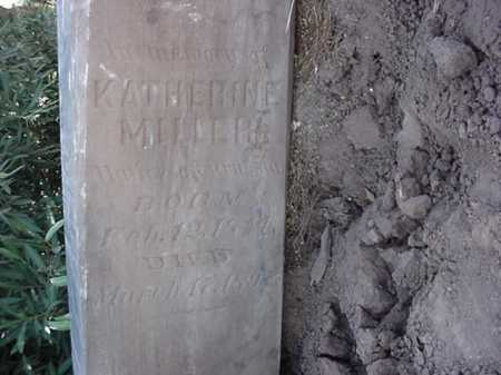 MILLER, KATHERINE - Maricopa County, Arizona | KATHERINE MILLER - Arizona Gravestone Photos