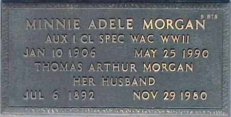 MORGAN, MINNIE ADELE - Maricopa County, Arizona | MINNIE ADELE MORGAN - Arizona Gravestone Photos