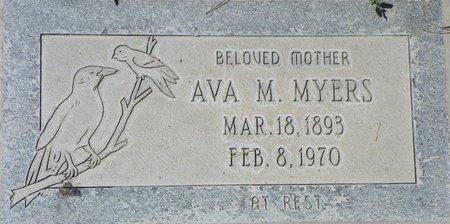 MYERS, AVA M - Maricopa County, Arizona | AVA M MYERS - Arizona Gravestone Photos