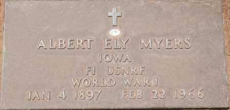 MYERS, ALBERT ELY - Maricopa County, Arizona   ALBERT ELY MYERS - Arizona Gravestone Photos