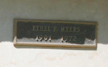 MYERS, ETHEL F - Maricopa County, Arizona | ETHEL F MYERS - Arizona Gravestone Photos