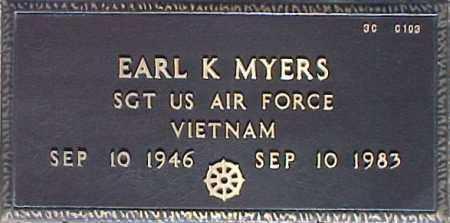 MYERS, EARL K. - Maricopa County, Arizona | EARL K. MYERS - Arizona Gravestone Photos