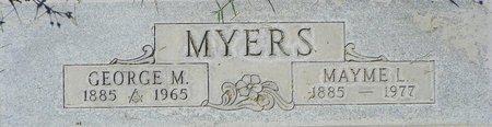 MYERS, GEORGE M - Maricopa County, Arizona | GEORGE M MYERS - Arizona Gravestone Photos