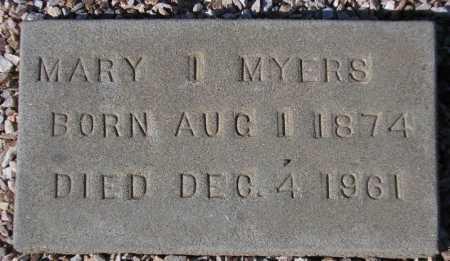 MYERS, MARY I. - Maricopa County, Arizona | MARY I. MYERS - Arizona Gravestone Photos