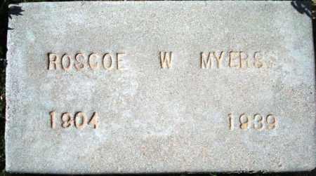 MYERS, ROSCOE W. - Maricopa County, Arizona | ROSCOE W. MYERS - Arizona Gravestone Photos