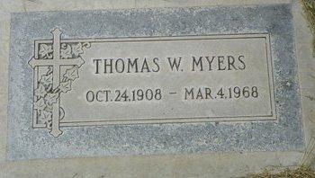 MYERS, THOMAS W - Maricopa County, Arizona   THOMAS W MYERS - Arizona Gravestone Photos