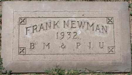 NEWMAN, FRANK - Maricopa County, Arizona   FRANK NEWMAN - Arizona Gravestone Photos